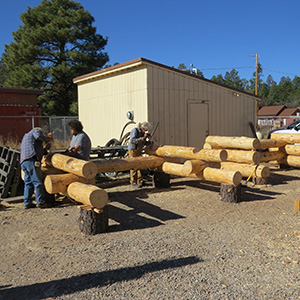 Log Building Students